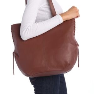NWT $228 Lucky Brand Joss Leather Tote in Rye